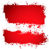 Blood red ink banner Royalty Free Stock Photo