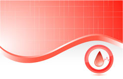 Blood red medical background Royalty Free Stock Image