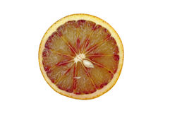 Blood red orange slice Stock Photography