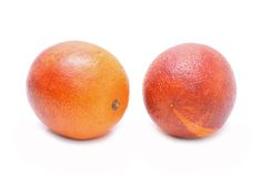 Blood red oranges isolated on white background Stock Image