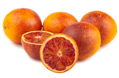 Blood red oranges Royalty Free Stock Image
