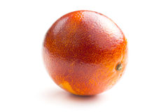 Blood red oranges. On white background stock photos