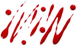 Blood or red paint droplets Royalty Free Stock Photos