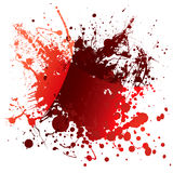Blood red reflection. Abstract red blood background with light reflection and splatter Stock Image