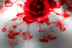 Blood red water. Red color blending in water Royalty Free Stock Photos