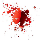 Blood reflection Royalty Free Stock Image