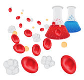 Blood Research. Research into common, widespread health conditions starts in the laboratory Royalty Free Stock Photography