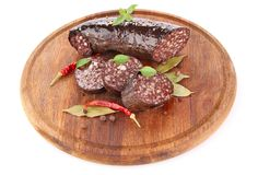 Blood sausage with spice Stock Photography