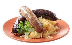Blood sausage and white pudding Royalty Free Stock Image