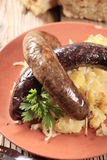 Blood sausage and white pudding Stock Image