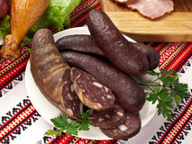 Blood sausages (black pudding). Stock Photography