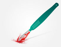 Blood on the scalpel Stock Photography