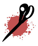 Blood scissors Royalty Free Stock Image