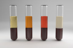 Blood serum common types Royalty Free Stock Photo