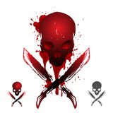 Blood skull illustration Stock Image