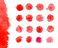 Blood spatters realistic bloodstains Stock Photo