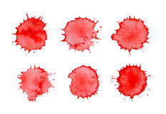 Blood spatters realistic bloodstains Royalty Free Stock Photos