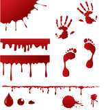 Blood spatters Stock Images