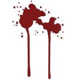 Blood splash - 3D render Royalty Free Stock Photos