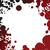 Blood splash frame Stock Images