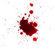Blood splashed on white background Stock Photos