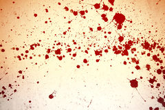 Blood splashes on wall Royalty Free Stock Photos