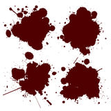 Blood splat. Realistic blood splat, no mesh or gradients Stock Photography