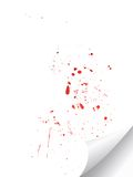 Blood splat. On white background Royalty Free Stock Image