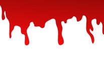 Blood splat. On white background Royalty Free Stock Images