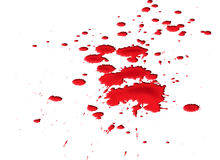 Blood splat. Isolated illustration of a ghastly blood splat Royalty Free Stock Photos
