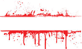 Blood splat border Stock Photo