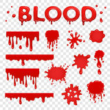 Blood splat collection Royalty Free Stock Images