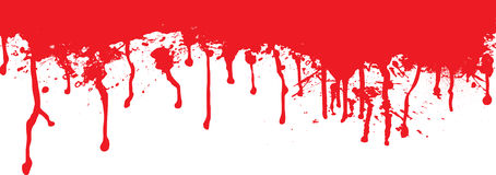 Blood splat dribble Royalty Free Stock Photography