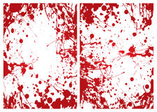 Blood splat frame. Red grunge ink splat blood border or frame background royalty free illustration
