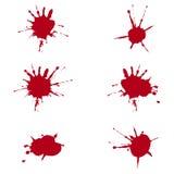 Blood splats. Illustration of blood splats over white background Stock Photography