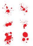Blood splats. Illustration of blood splats isolated over white background Vector Illustration