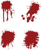 Blood splats. 4 different blood splat type illustrations Stock Image