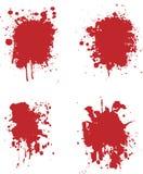 Blood splats. 4 different blood splat type illustrations Stock Images