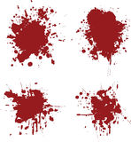 Blood splats Stock Photos