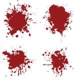 Blood splats. 4 different blood splat type illustrations Stock Photos