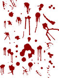 Blood splats. Lots of different blood splat type illustrations Royalty Free Stock Photo