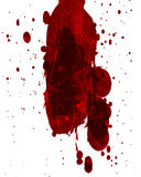 Blood splatter. Red blood splatter on a solid white background Royalty Free Stock Images