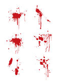 Blood splatter. Collection of blood splatter for multiply use Royalty Free Stock Images
