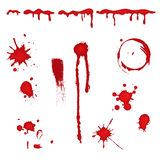 Blood splatter -. Set of different blood drops, splatter and trail. Isolated over white background. Vector file saved as EPS AI8, all elements layered and Royalty Free Stock Photography