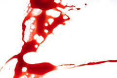 Blood splatter Stock Image