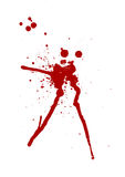 Blood Splatter. Over white background Stock Images