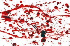 Blood splatter. Ed on a white background Stock Photography
