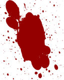 Blood splatter. Red blood splatter on a white background Royalty Free Stock Photos
