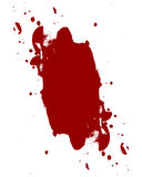 Blood splatter. Red blood splatter on a white background Royalty Free Stock Image