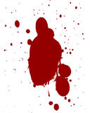 Blood splatter. Red blood splatter on a white background Royalty Free Stock Photography